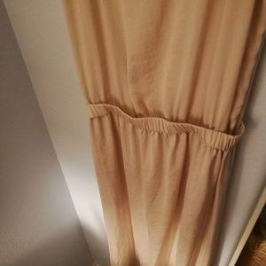 Zara Beige Silky Long maxi dress